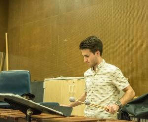 Tyler Dover plys on xylophone-2