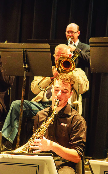 AC Big Band with student Trevor Curtis